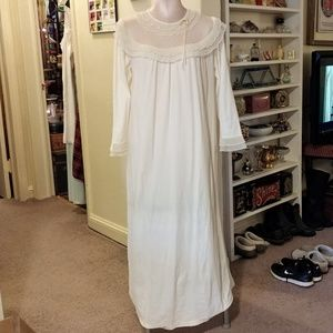 Vintage Long White Gilead Nightgown Sleepwear